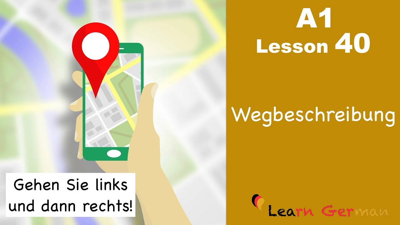 Learn German | Wegbeschreibung | Directions | German for beginners | A1 - Lesson 40