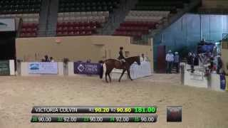 Victoria Colvin and Clearway - NA Jr Equitation Championships at 2014 CCHS