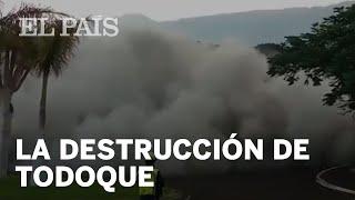 Los momentos previos a la destrucción de Todoque por la lava