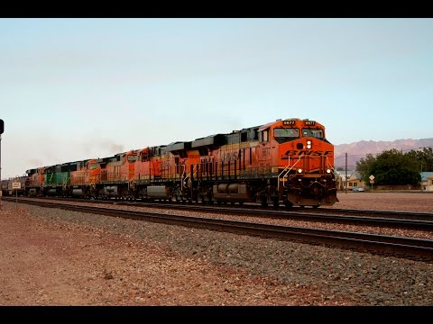Railfanning BNSF's Needles Subdivision-Santa Fe, Burlington Northern, CEFX Leasers, and More!