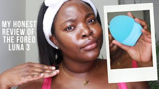 My Honest Review of the Foreo Luna 3 | Oily Dark Skin | Le Beat