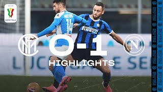INTER 0-1 NAPOLI | COPPA ITALIA HIGHLIGHTS | The away side win the first-leg clash 😤⚫🔵