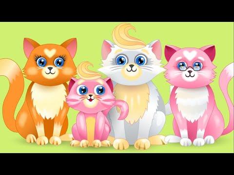 Розовый котёнок (20 минут) Колыбельная сказка и песня (2 повторения), Папины сказки