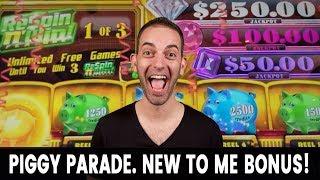 🥇 NEW Piggy Parade Slot Machine 🐖 Got The Bonus!