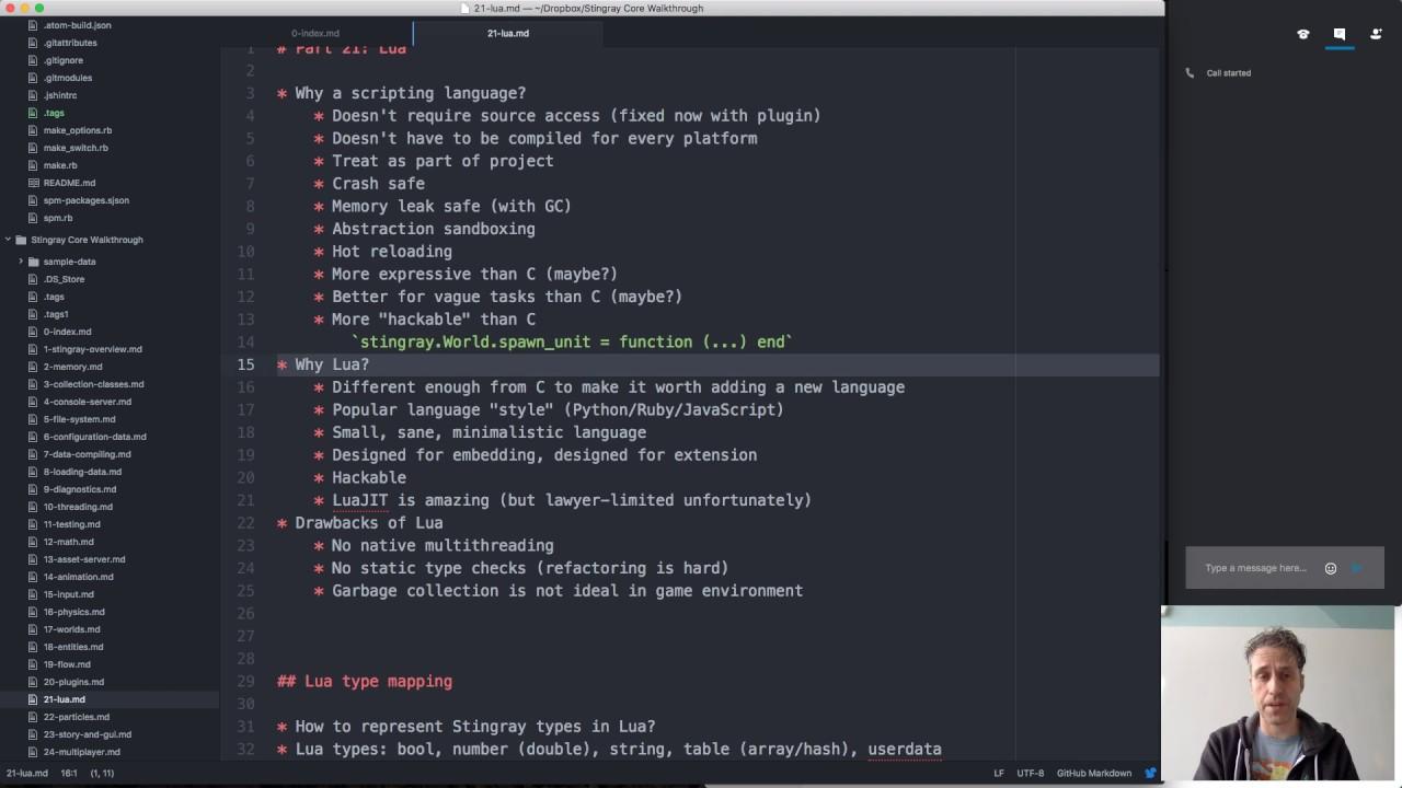 Stingray Engine Code Walkthrough #21: Lua