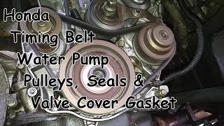 Timing Belt, Water Pump, Pulleys & Seals - Honda Accord I4 F series 2.3L
