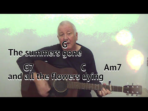 Danny Boy - Londonderry Air - cover - easy chords guitar lesson - on-screen chords and lyrics