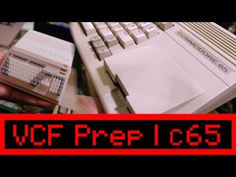 Commodore 65 and Ultra Rare Machines - VCF 2017 PREP - 4K UHD