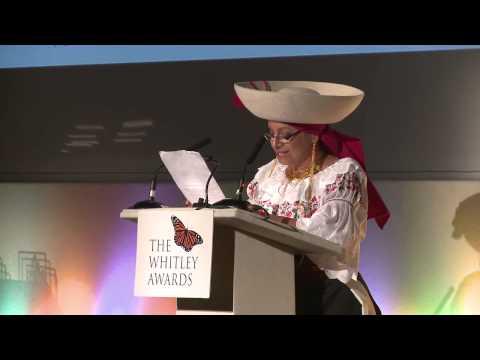 Monica Gonzalez's speech at the 2014 Whitley AWards