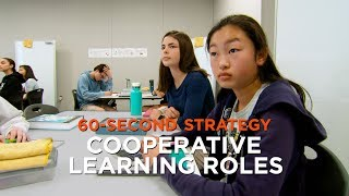 60 Second-Strategy: Cooperative Learning Roles