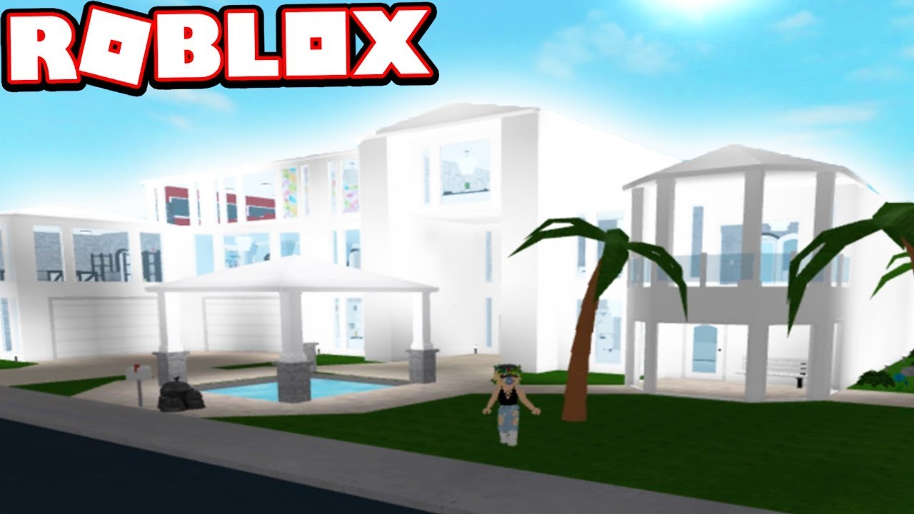 500000 modern mansion snowy white subscriber tours roblox bloxburg