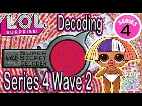LOL Surprise Series 4 Boy LOL Dolls Use LOL Decoder To Reveal The Secret In L.O.L. Surprise Wave 2