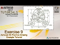 Autocad 2D Practice Drawing   Exercise 9   Autocad Example Tutorial
