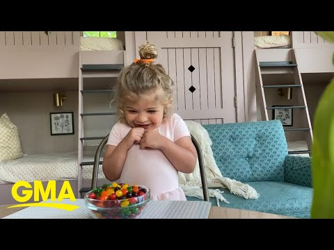 So Proud Of Thomas Rhett's Daughter's Self-control During The Fruit Cup Challenge L GMA Digital