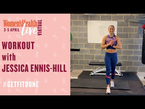 45 Minute Total Body Home Workout with Jessica Ennis-Hill | | Women's Health Live
