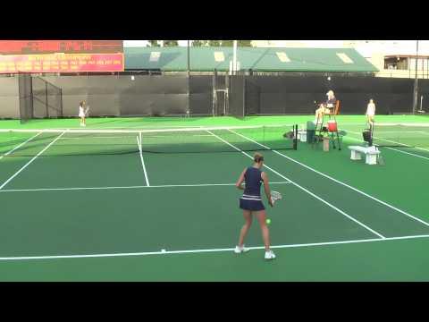 01 29 2010 USC Vs SD women's tennis singles 6 of 15