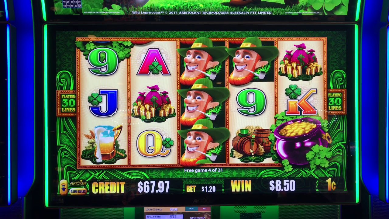Wild Lepre Coins Slot Machine Bonus Plays At Kickapoo