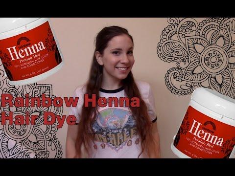 Rainbow Henna Hair Dye I Dye My Hair Red Youtube