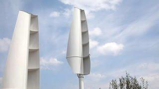 видео Ветрогенераторы с вертикальной осью вращения