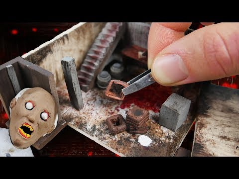 Making GRANNY'S Basement Miniature House in POLYMER CLAY!