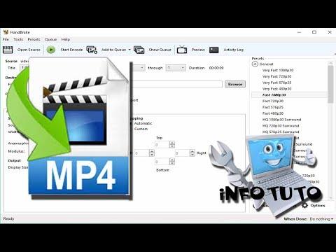 Convertir une vidéo en mp4 rapidement avec Handbrake
