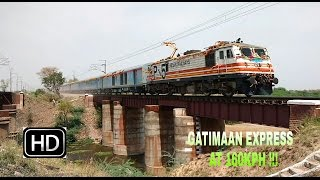 INDIAN RAILWAYS !! SEMI HIGH SPEED TRAIN GATIMAAN EXPRESS BLAZES At 160 KMPH !!