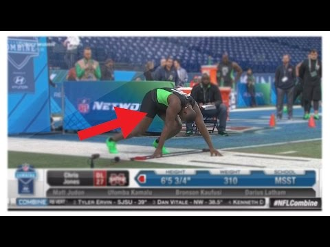 Chris Jones Dick Falls Out In NFL Combine 40-Yard Dash! Defensive Lineman Penis Falling Out LIVE! thumbnail