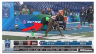 Chris Jones Dick Falls Out In NFL Combine 40-Yard Dash! Defensive Lineman Penis Falling Out LIVE!