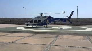 Mersin marina polis helikopteri kalkisi