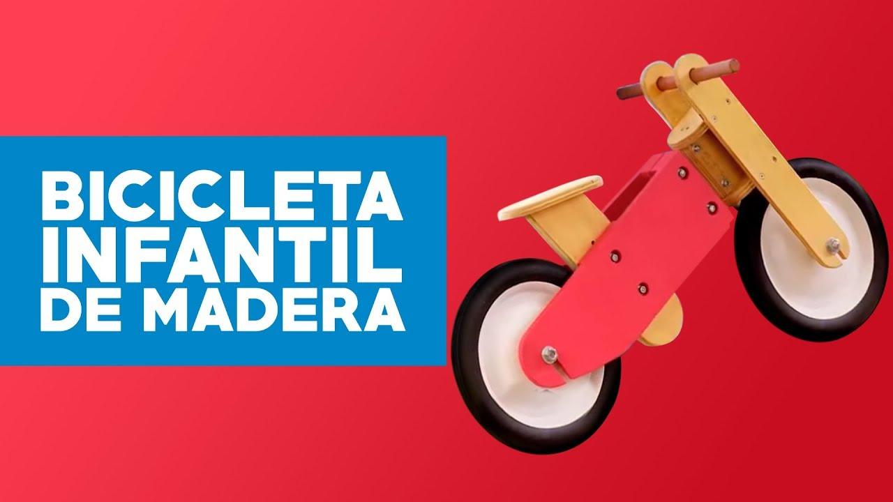 4ea55da4a Cómo construir una bicicleta infantil de madera? - YouTube