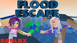 Roblox: Flood escape/empurrar os botões e parkour para escapar da facilidade inundações!