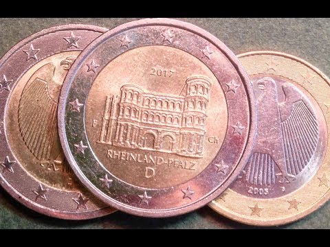 1 & 2 Euro Coins of Germany