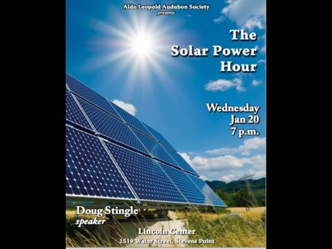 Current Status of Sustainable Energy Speaker:  by Doug Single