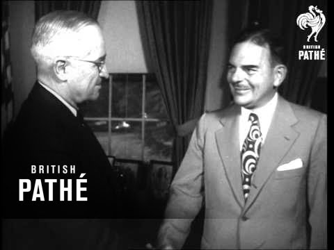 Dewey At White House After Far East Tour (1951)