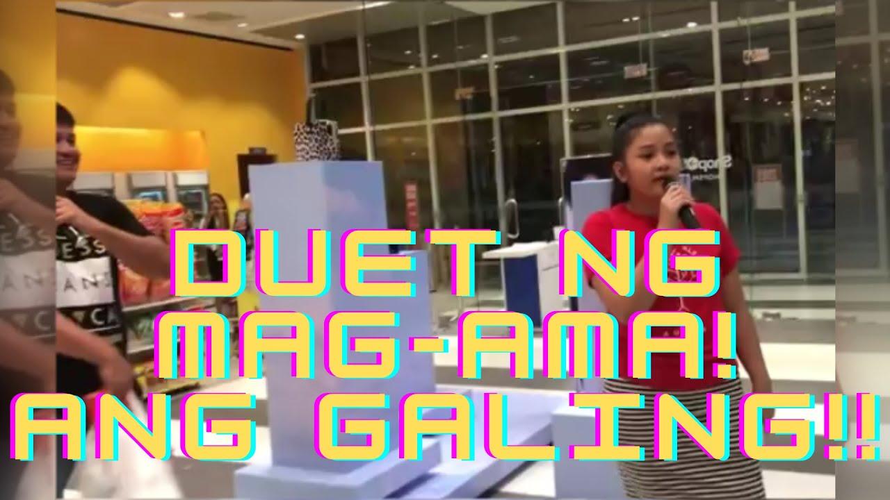 Mag-ama kumanta sa loob ng mall! must watch ang galing!