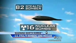 9 B2 Bombers did bomb drop excercise over South Korea