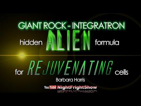 Alien technology formula rejuvenating cells GIANT ROCK INTEGRATRON Barbara Harris Night Fright Show