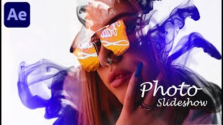 After Effects Tutorial | Ink Drop Photo Slideshow | No Plugins