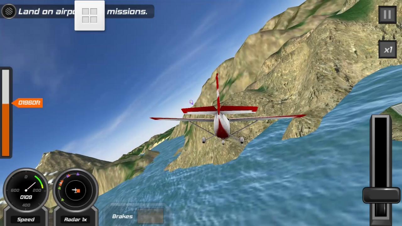 Thử chơi game lái máy bay 3d