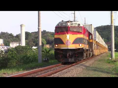 Panama Canal Railway Stack Train near Balboa, Panama City (April 23, 2017)