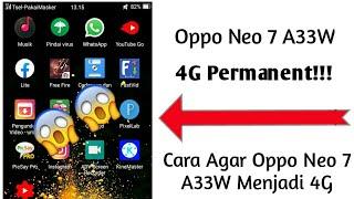 Coba merubah jaringan 3G ke 4G di OPPO MIRROR 5 (A51W) & OPPO NEO 7 (A33W) Mohon maaf sebelumnya dis.
