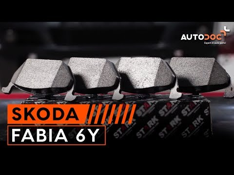 how to change a front brake pads skoda fabia 6y tutorial. Black Bedroom Furniture Sets. Home Design Ideas