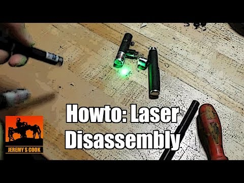 disassemble laser pointer