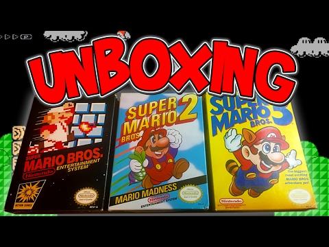 UNBOXING Super Mario Bros. 1,2, & 3 | NES Retro Games