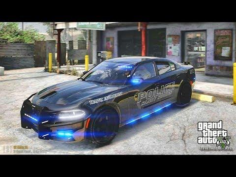 GTA 5 MOD LSPDFR 717 - CHARGER PATROL !! (GTA 5 REAL LIFE PC MOD)
