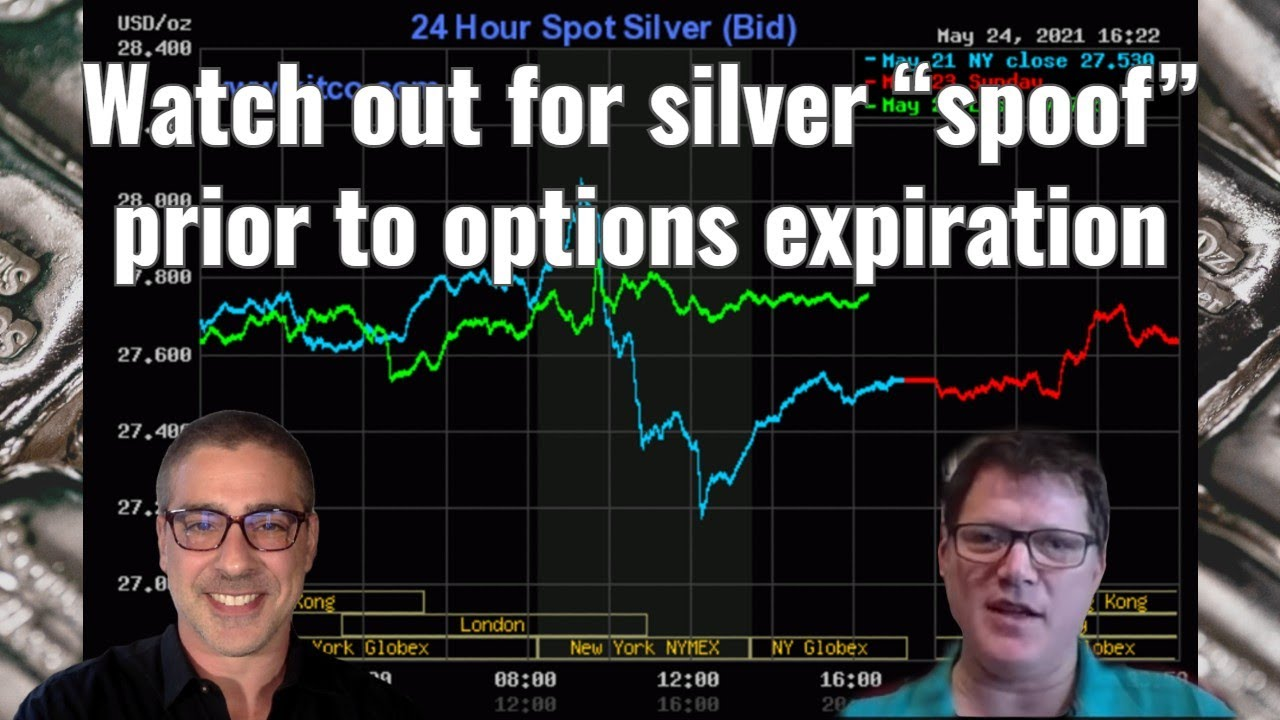 """Watch out for silver """"spoof"""" prior to options expiration"""