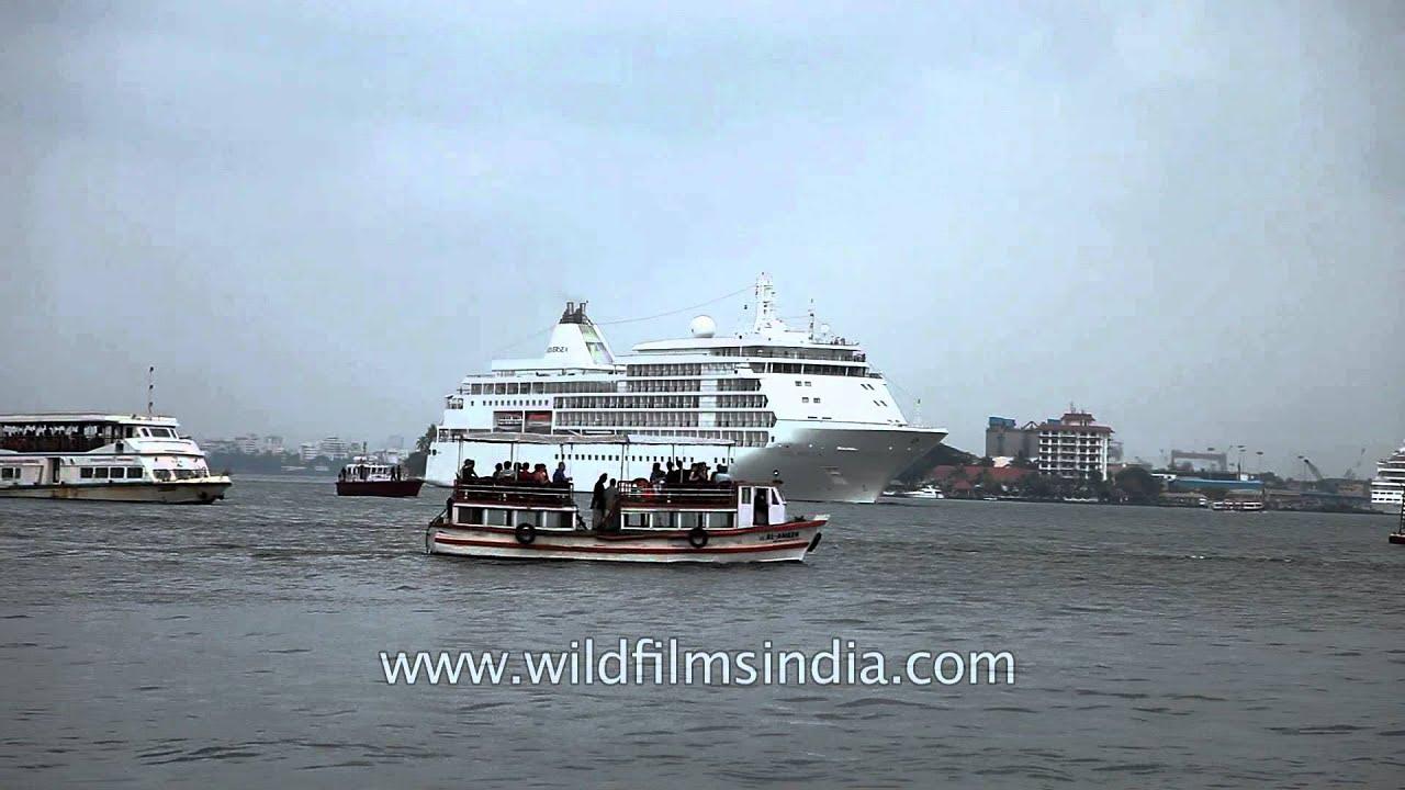 Massive Cruise Ship Arrives At Kochi Port YouTube - Cruise ships from india