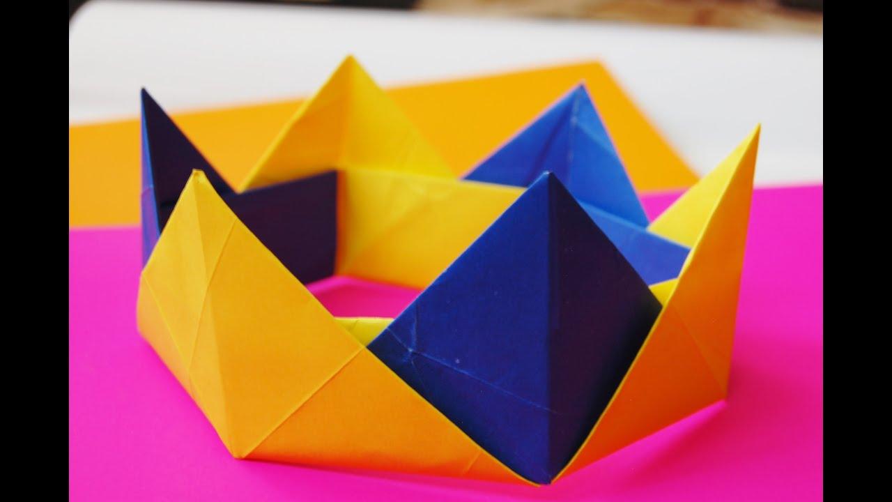 Easy Origami Modular Crown - YouTube - photo#14