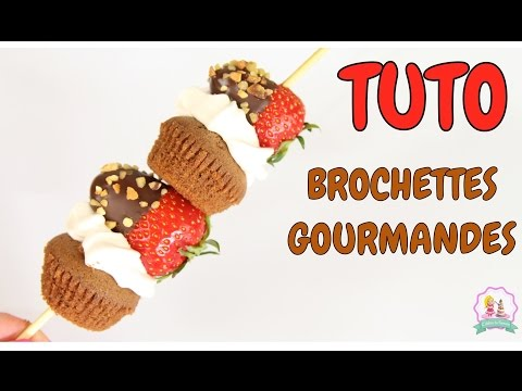 ♡•-recette-brochette-de-fruits-gourmande---chocolate-cake-recipe-•♡