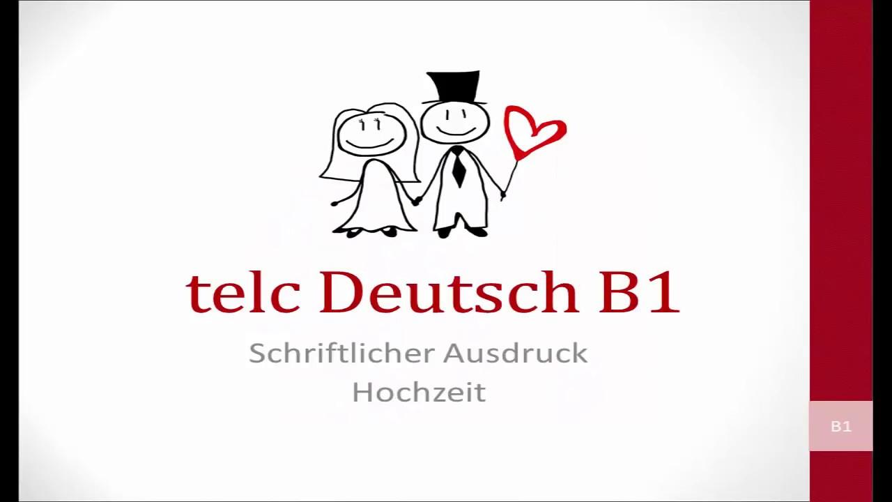 Hochzeit Schreiben Telc B1 Youtube